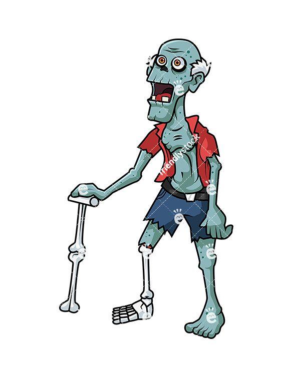 Old Man Zombie | Zombie cartoon, Cartoon clip art, Zombie ...
