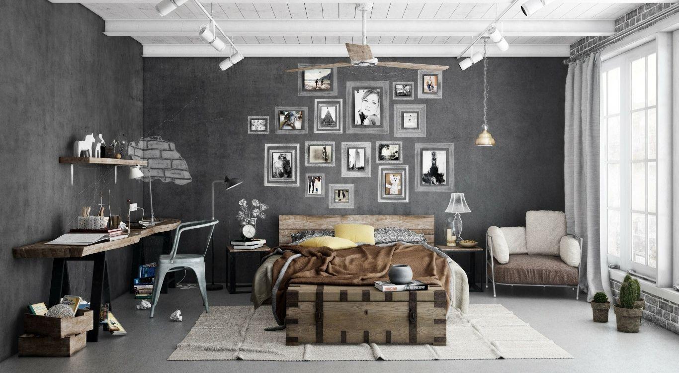 25 Stylish Industrial Bedroom Design Ideas Schlafzimmer Design Wohnen Zuhause