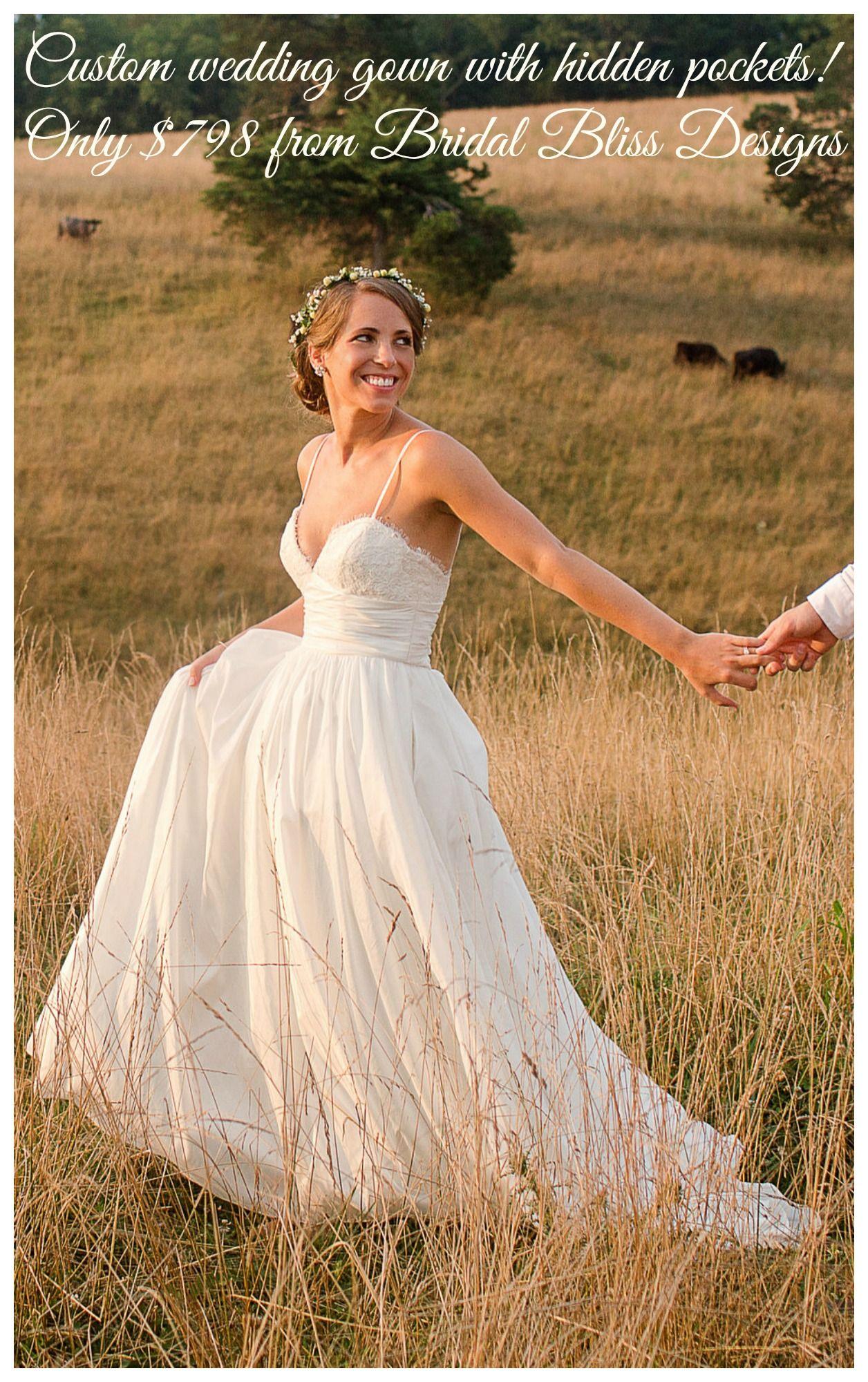 Coco replica wedding dress with hidden pockets wedding pinterest
