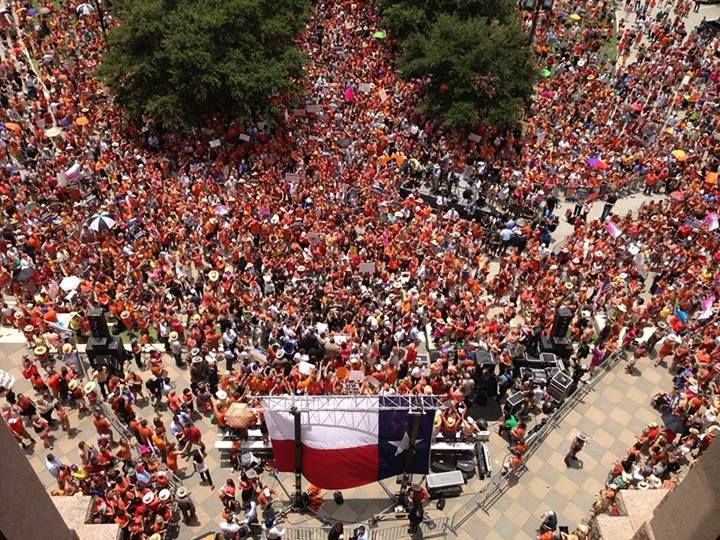 Estimated over 5,000 women, men, children, daughters, mothers, wives, and voters rally in support of Texas women's constitutional rights. Do you think they heard us?