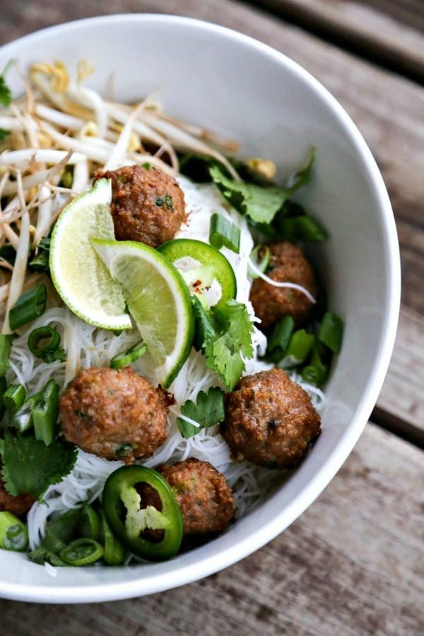 turkey meatball pho foodie with family