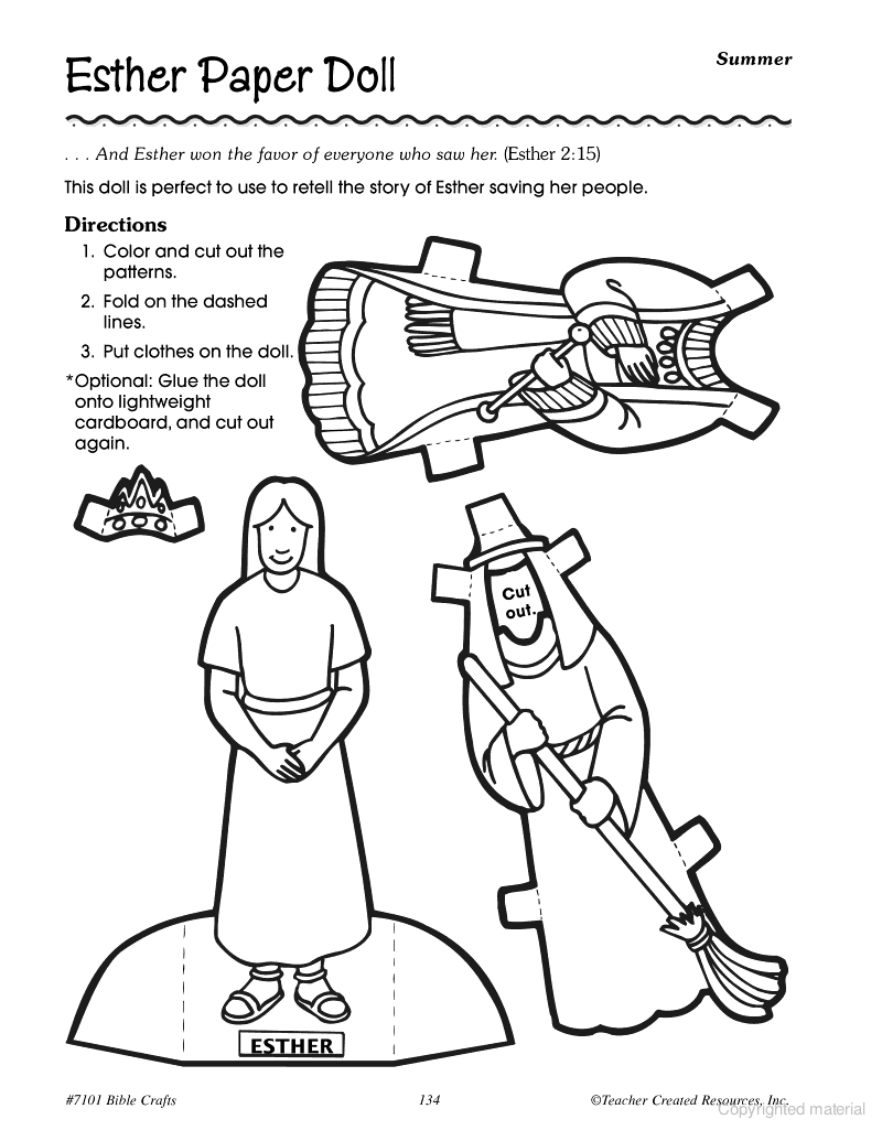Printable coloring pages of queen esther - Bible Crafts Such An Important Lesson And So Much To Learn Especially For Little Queen Esther