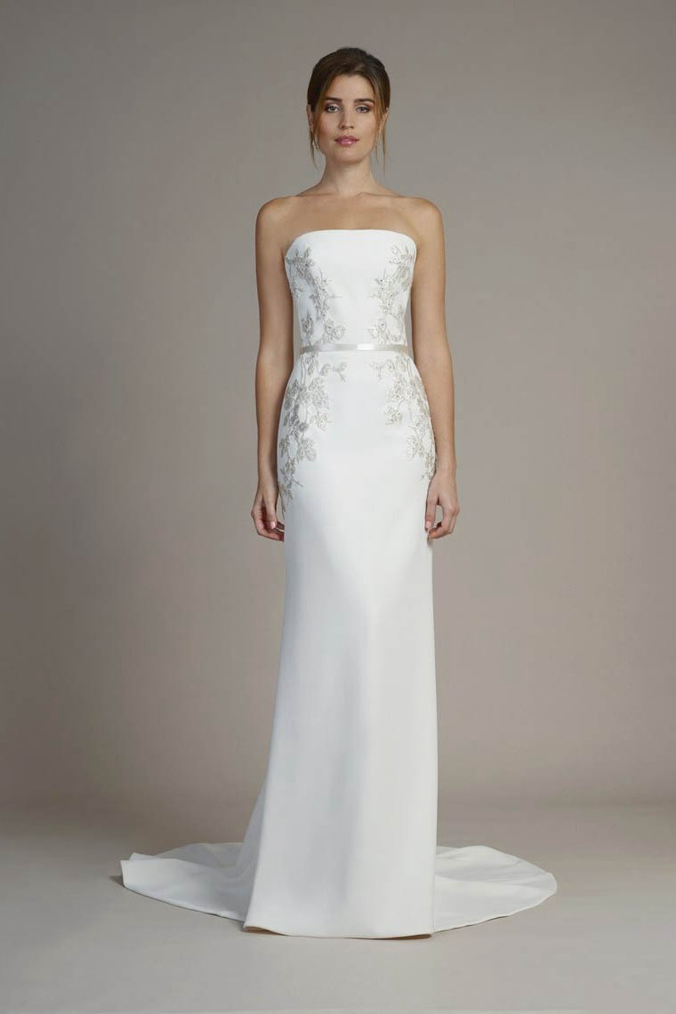 9ddcc425fea  weddings  weddingdress  bridal  simple  elegant  angrila Elegant Strapless  Sheath Wedding Dresses