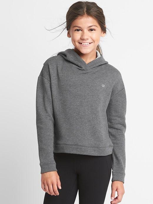 3a9987f4 Gap Girls Gapfit Kids Pullover Hoodie Heather Grey | Products ...