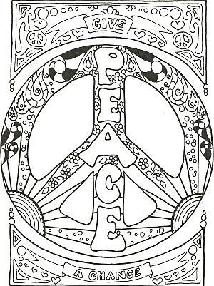 peace sign coloring pages enjoy coloring