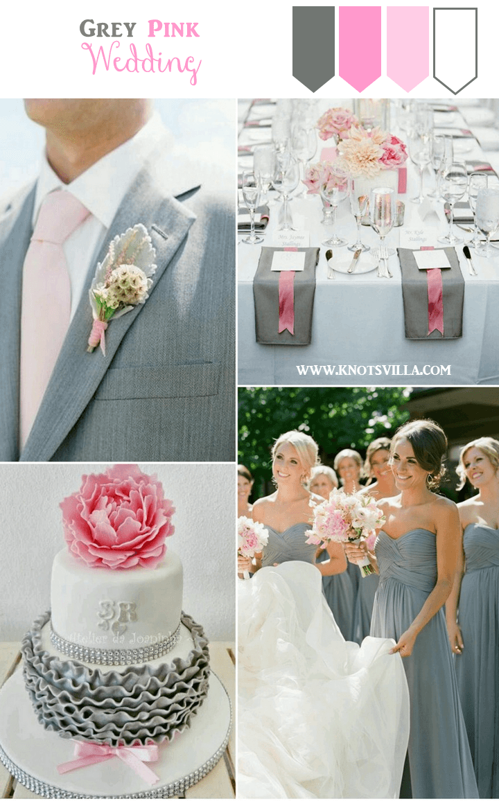 Grey Wedding Ideas: 3 Perfect Colors to combine with Grey | Grey ...