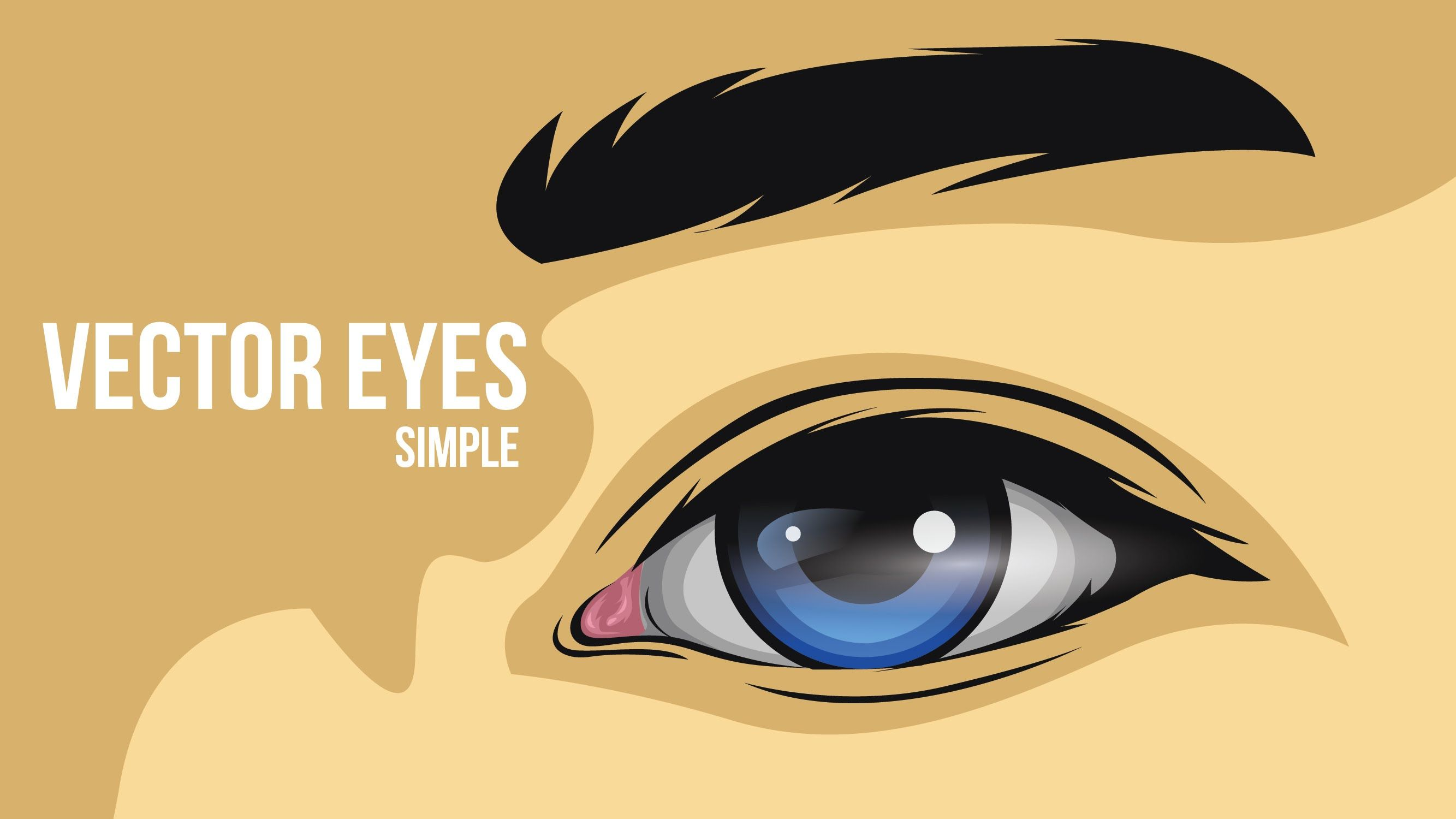 How to create a simple eye vector | Face Drawing | Eye ...