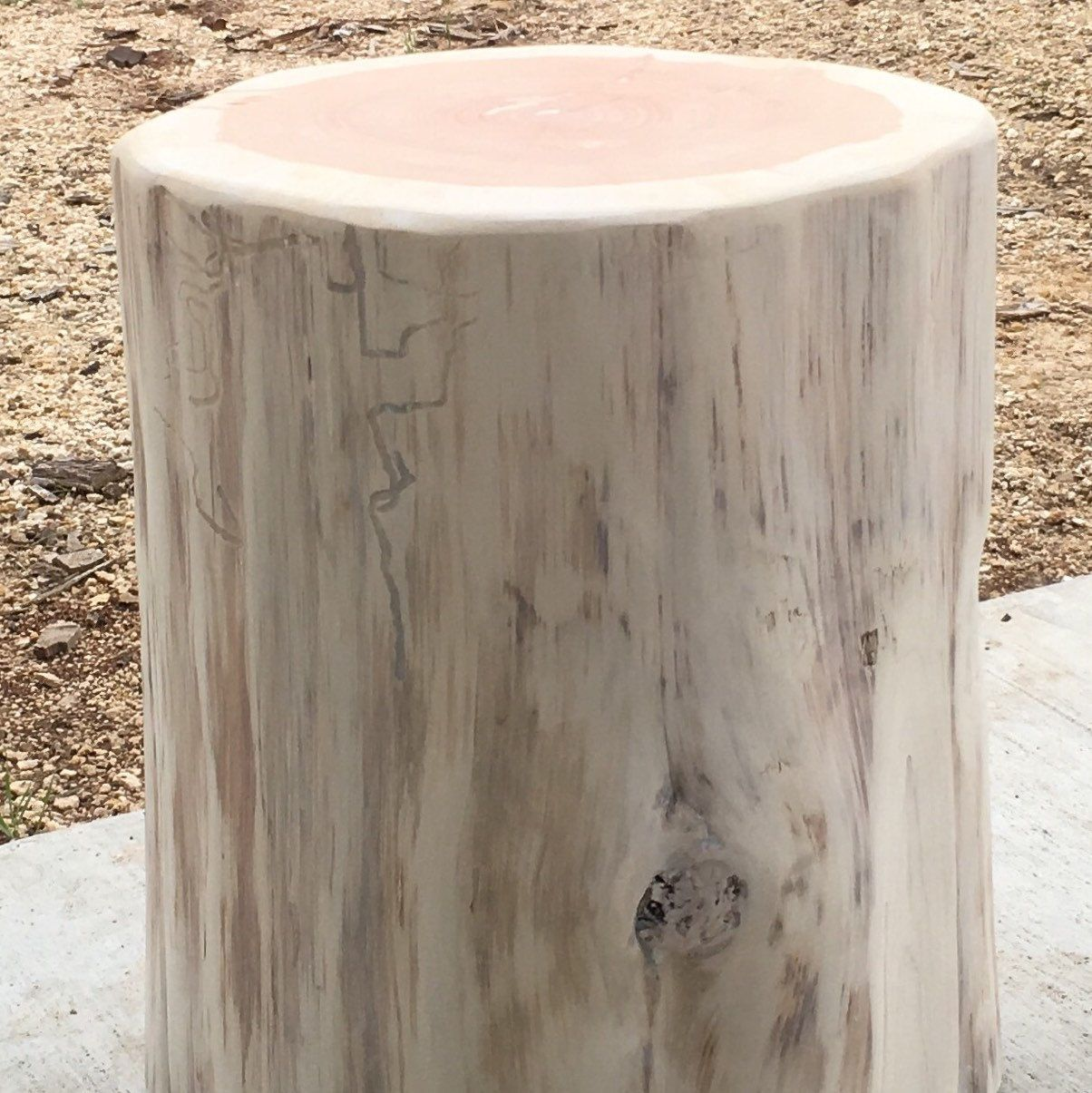 Awesome A Finished White Washed Tree Stump Seat/side Table. White Washing Option  Coming Soon Photo