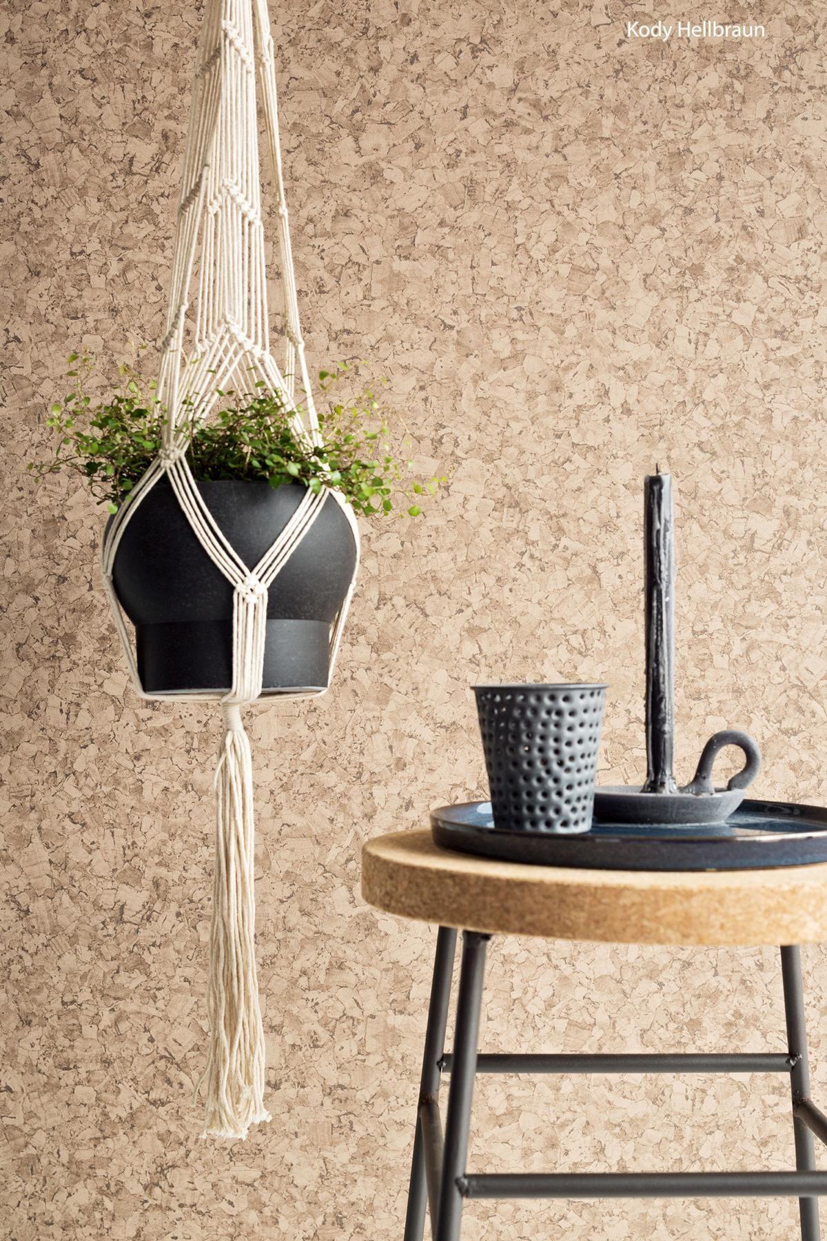Suchen Sie eine hochwertige Holztapete in braun Kaufen Sie jetzt online Tapete Kody Hellbraun Stil Holz nur bei TAPETO mit erstklassigem Service