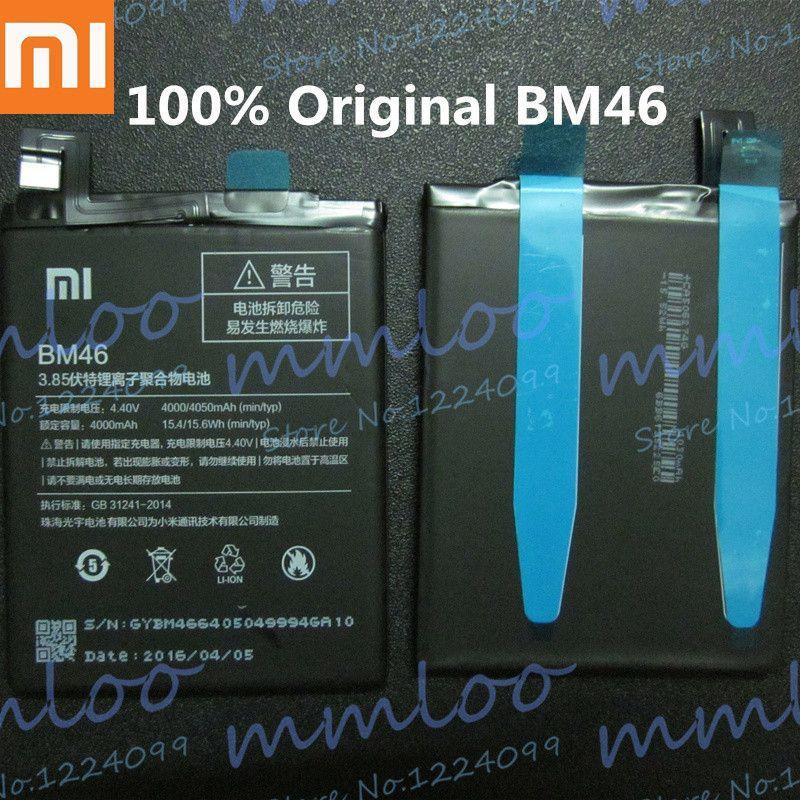 0250a427ea1 100% Original Genuine BM46 4000mAh Battery For Xiaomi Redmi Note 3 Xiao mi  Hongmi note 3 Pro