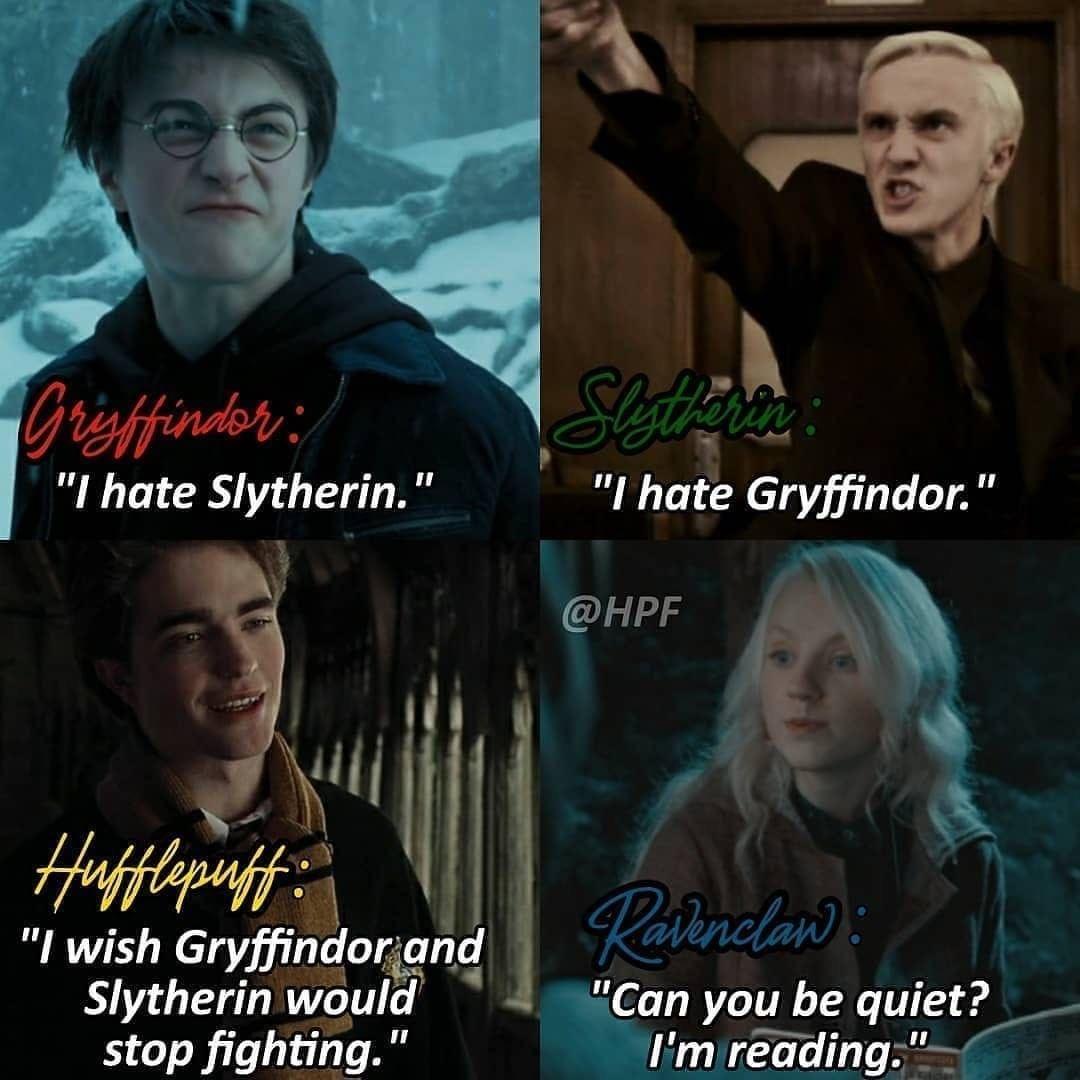 Harry Potter Stuff On Instagram Rep Your House Harrypotter Hogwarts Harry Potter Puns Harry Potter Fanfiction Harry Potter Memes Hilarious