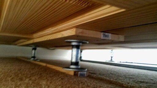 Underside of Plank Bed Frame