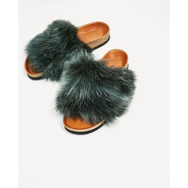 8bdd6531d8d FLAD SANDAL I PELS - Se alle-SKO-DAME | ZARA Danmark (245 DKK) ❤ liked on  Polyvore featuring shoes and sandals