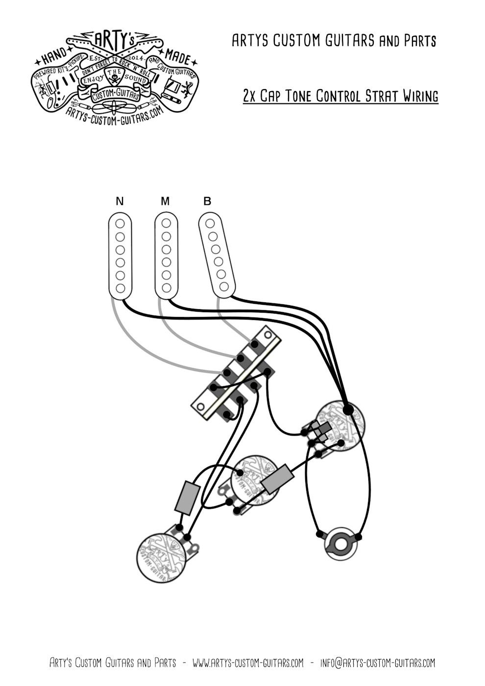 Arty's Custom Guitars Wiring Diagram Plan Stratocaster
