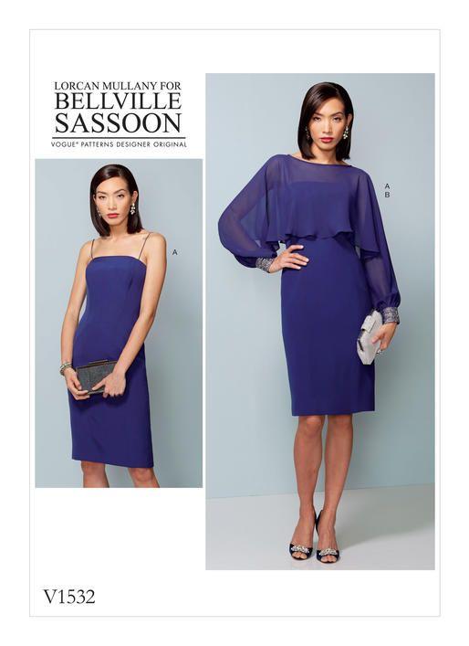Bellville Sassoon dress pattern for Vogue Patterns V1532 MISSES ...