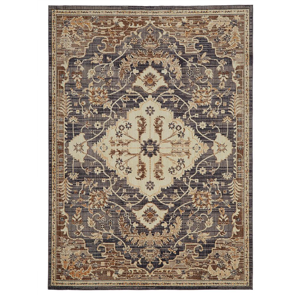 Home Decorators Collection Livia Blue Beige 5 Ft X 7 Ft Area Rug