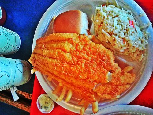 Haddock Plate at the Clam Box in Ipswich, MA