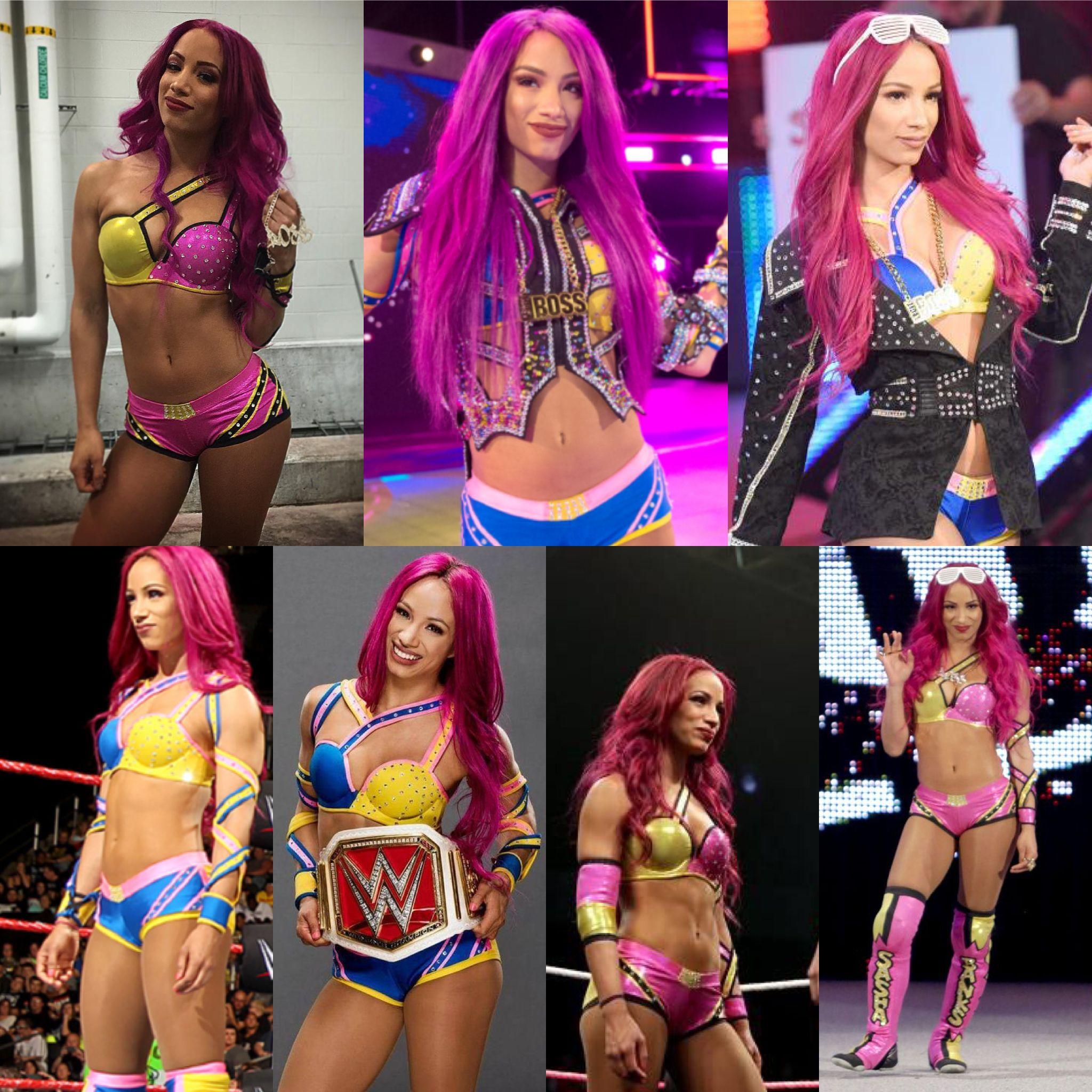 Pink Blue or Yellow Blue Gear Sasha Banks