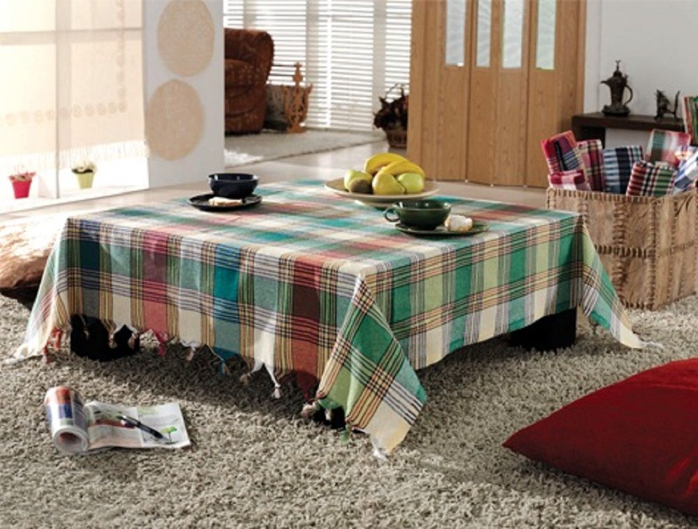 Tablecloth Linen Woven 100 Cotton Square Checked Table Cloth Dinner Summer Picnic Tablecloth Picnic Blanket Table Cover B Table Covers Table Cloth Retro Table