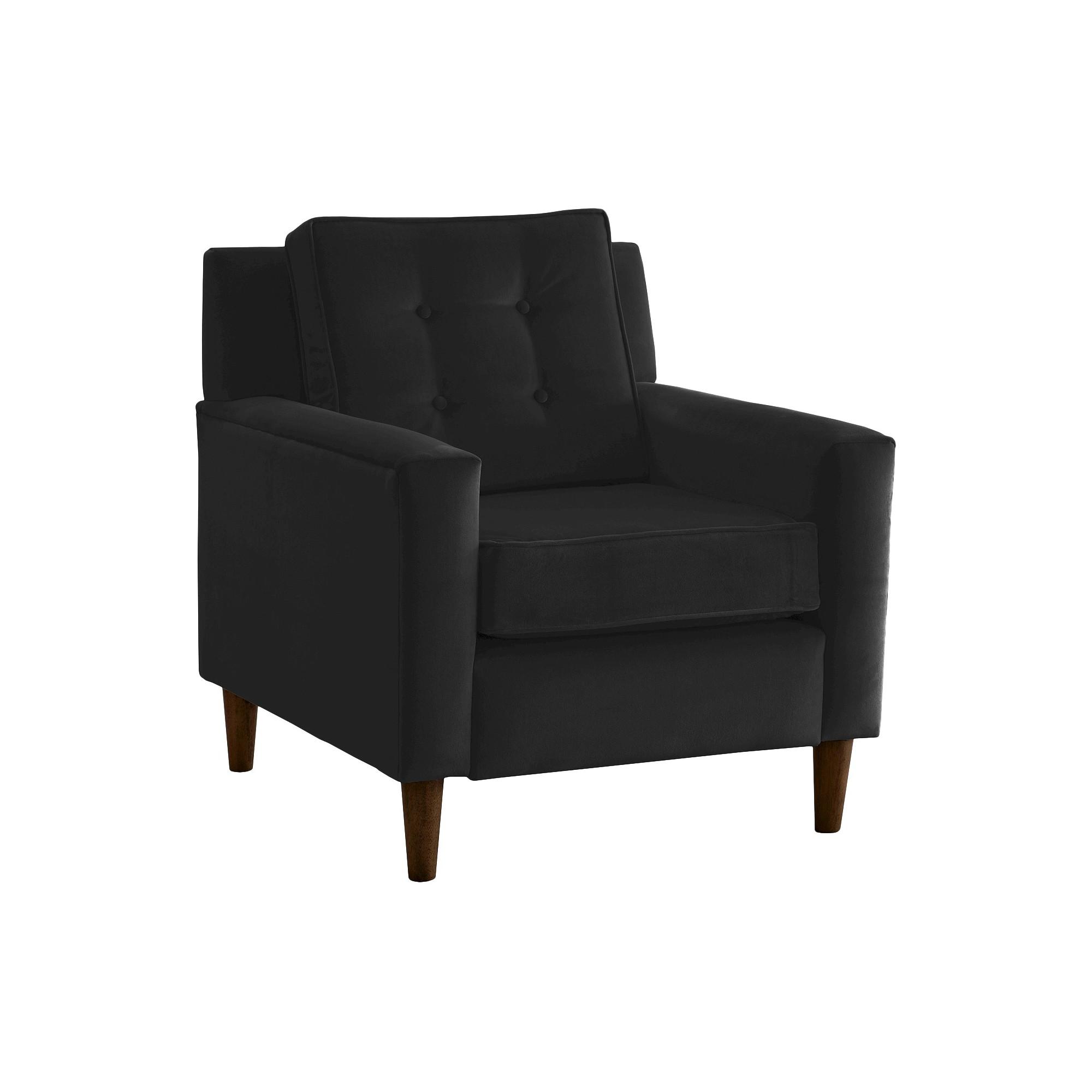 Skyline Custom Upholstered Arm Chair Skyline Furniture Velvet
