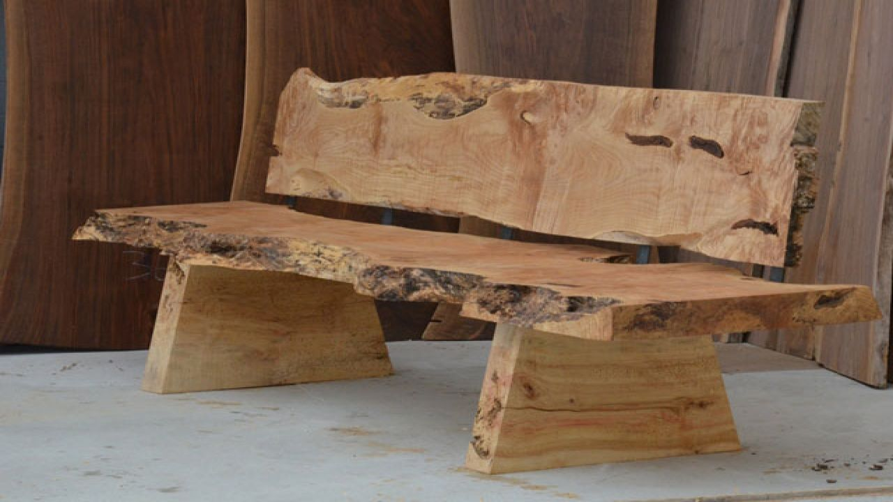 Rustic Wooden Benches Outdoor