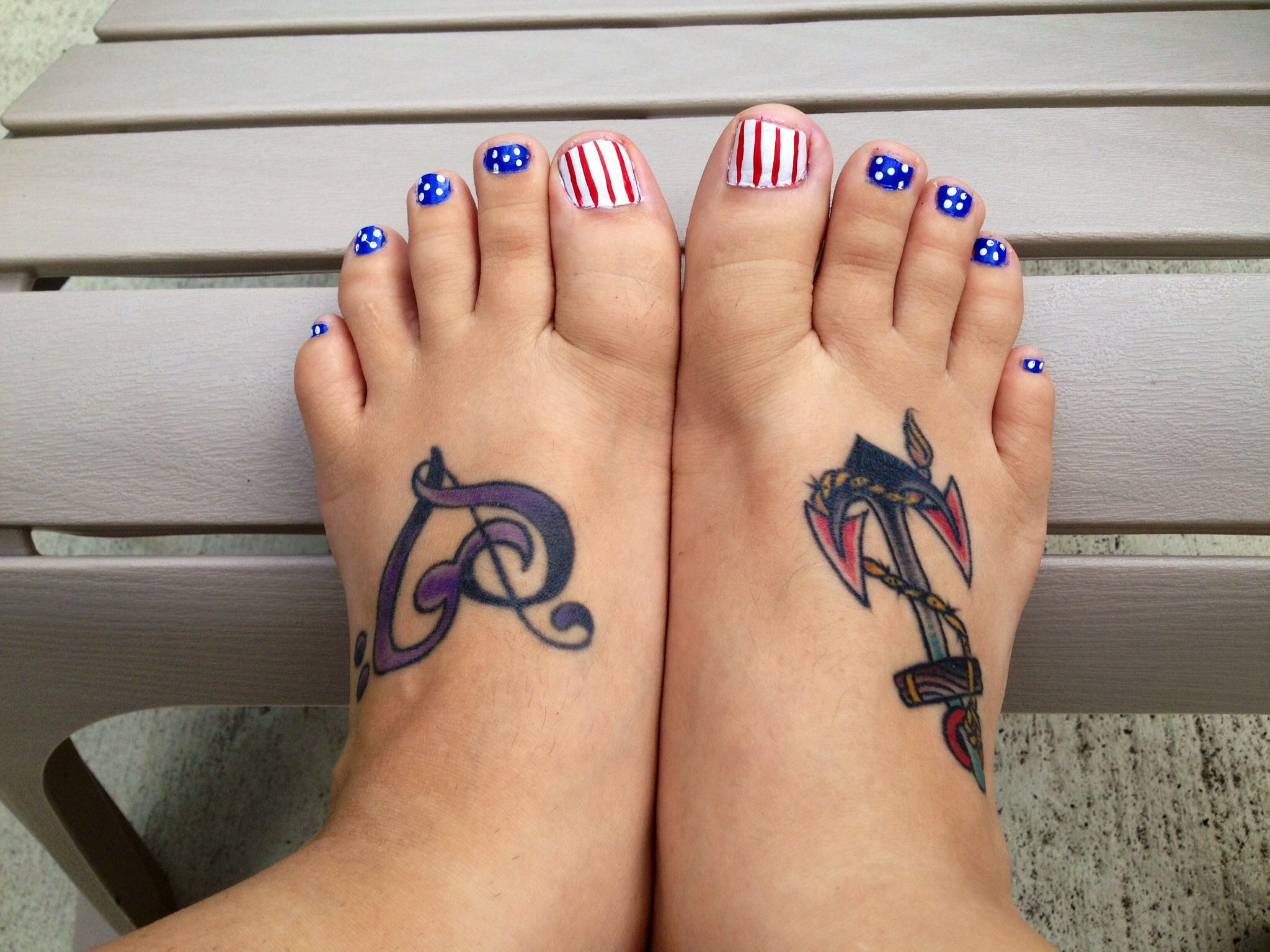 Fourth of July toes! :) | Nails, hair and makeup | Pinterest | Toe ...