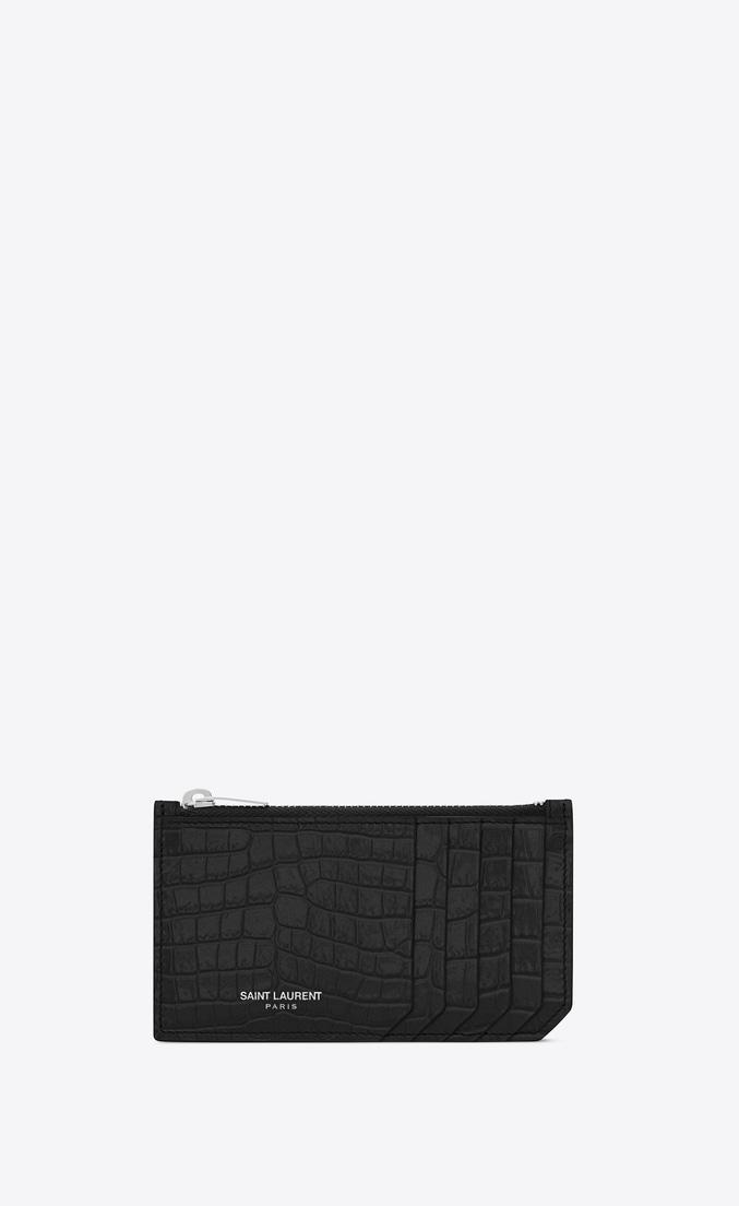 Black Croc Embossed Leather  Case