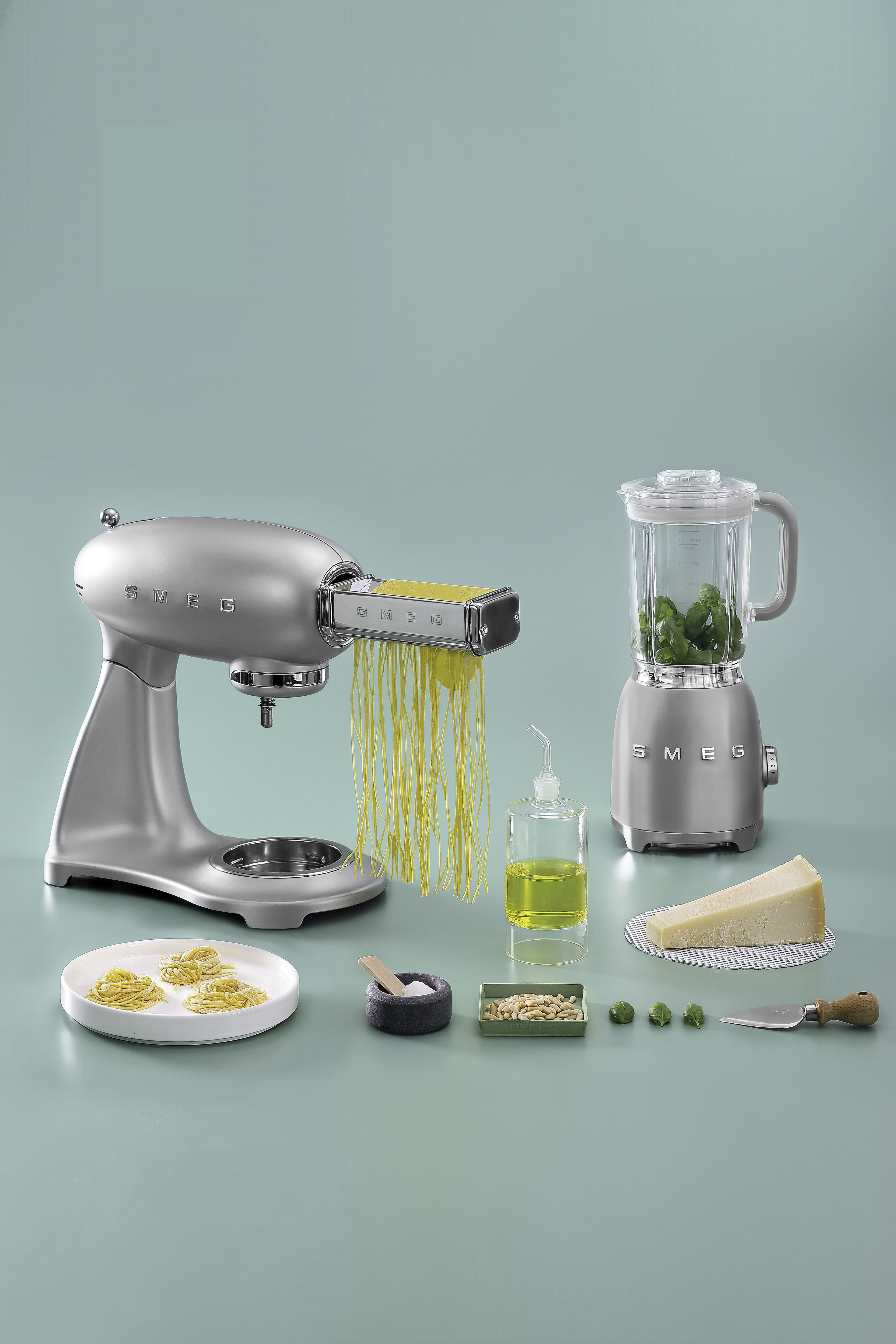 Smeg Stand Mixer with Accessories and Blender | KITCHEN | Pinterest ...