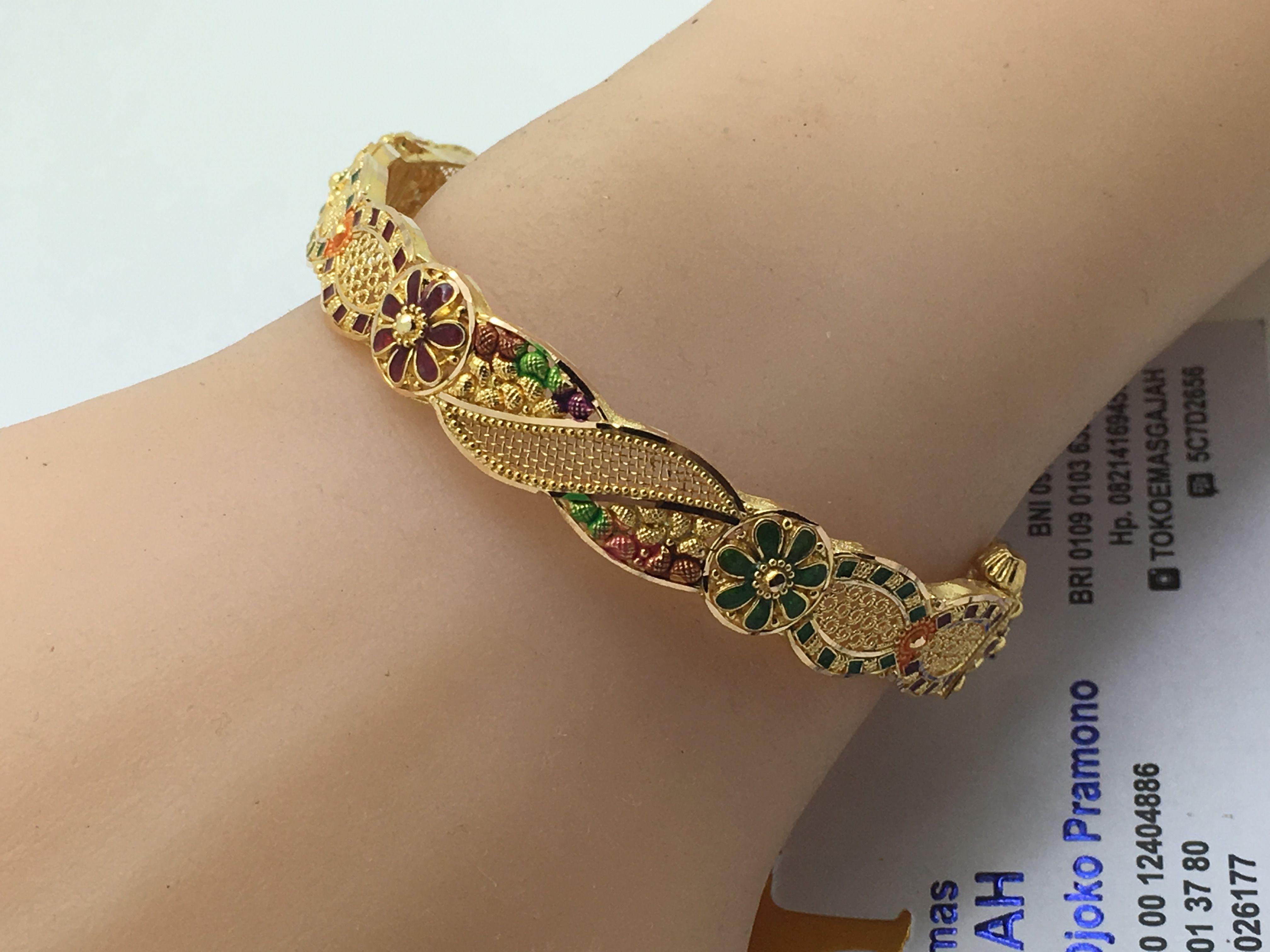 K gold dubai india elegant bracelet diameter cm round