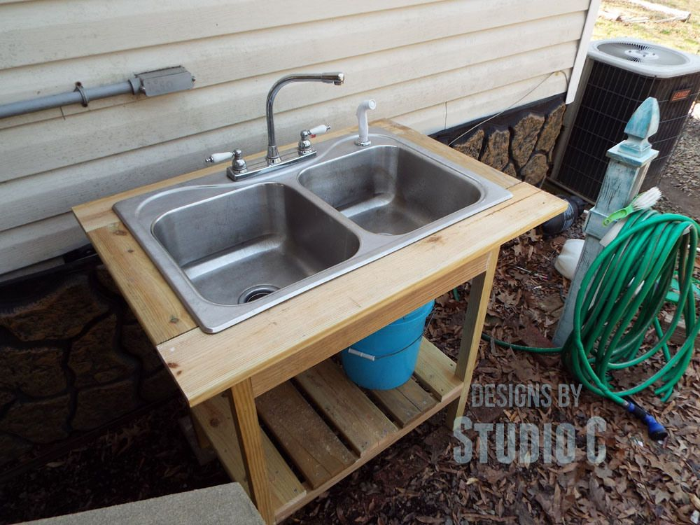 Beau Diy Outdoor Sink Outside Angle