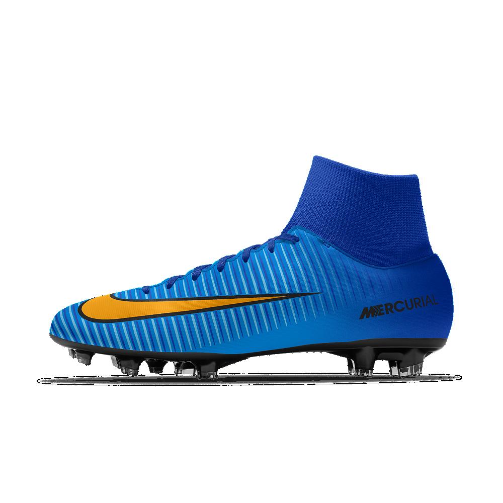 Nike Mercurial Victory VI Dynamic Fit FG iD Men s Firm-Ground Soccer Cleats  Size 10.5 (Blue) 6ebf3f8b6