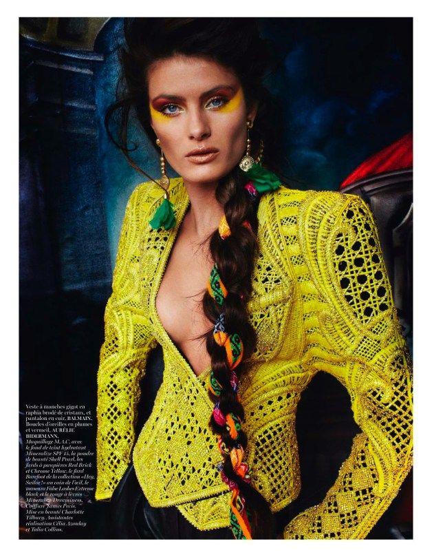 """""""Inca"""", Isabeli Fontana & Aymeline Valade by Mario Testino for Vogue Paris April 2013."""
