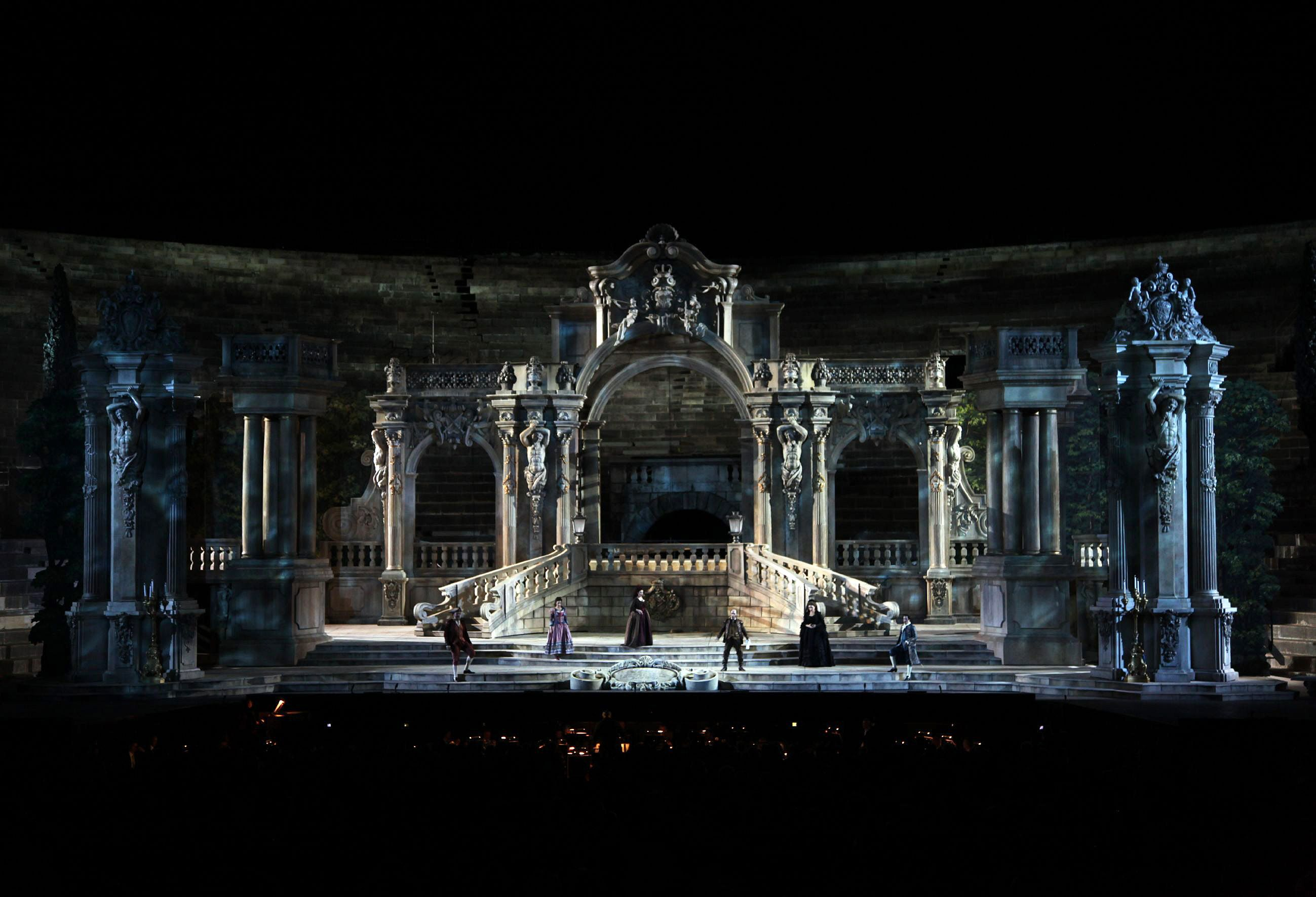 Don Giovanni by Wolfgang Amadeus Mozart on stage for the 90th Arena