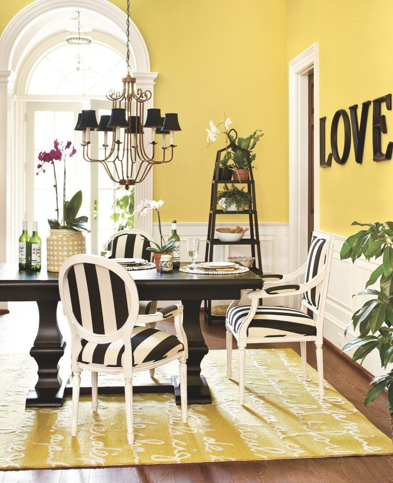 Le Poeme Ii Indoor Outdoor Rug Now Available At Ballarddesigns Yellow Black Dining Room