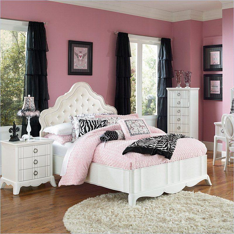 Magnussen Furniture Gabrielle Island Storage Bedroom Set In Snow White