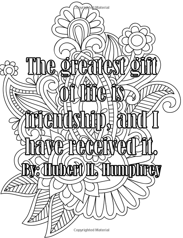 Adult Coloring Book Friendship Quotes Vol. 1: Betty Doyle ...