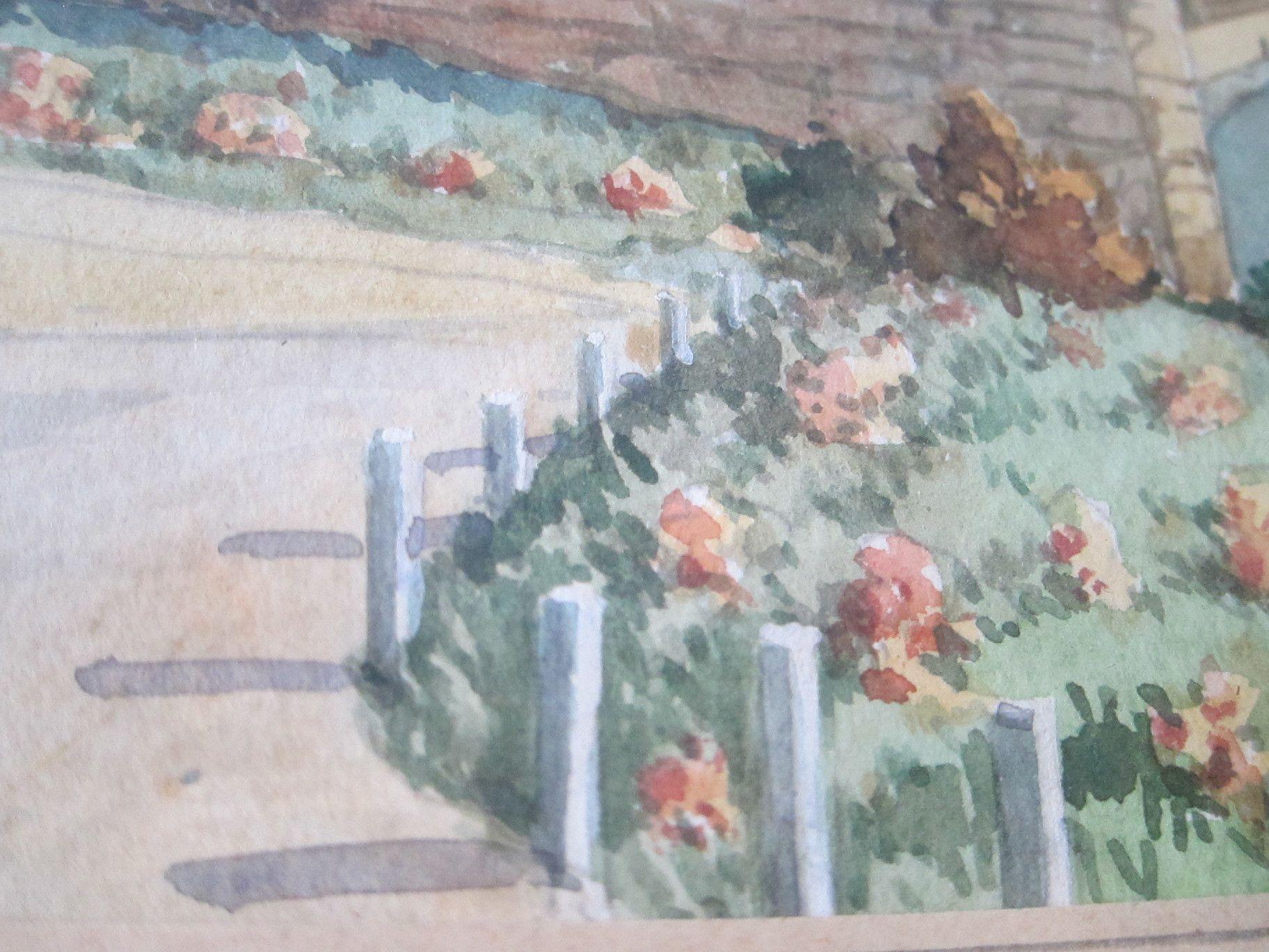 Original Landscape Watercolor Painting by G Zimmermann