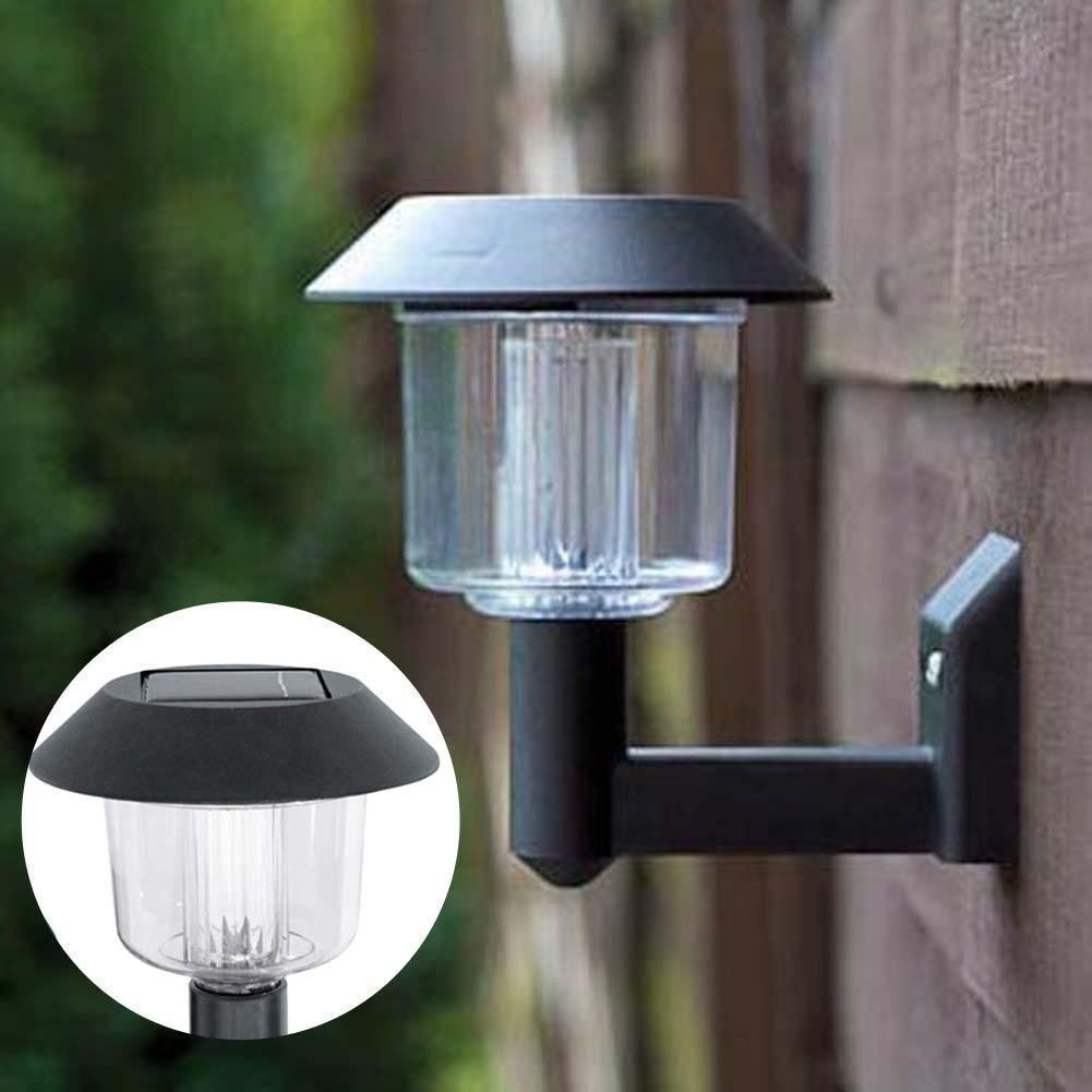 2pcs Bright Solar Ed Light Fence Gate Lamp Post
