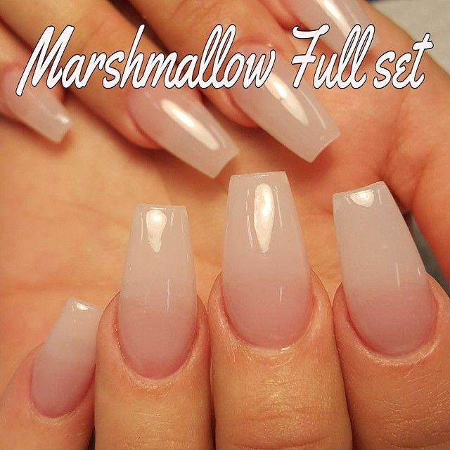 Nuni Torres Kissimmee Fl On Instagram Marshmallow Acrylic Set Acrylic Nails Coffin Ballerinas Natural Looking Acrylic Nails Nails