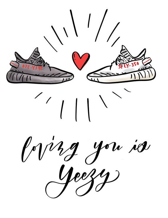 Loving You Is Yeezy Cute Hand Lettered And Illustrated Valentine S