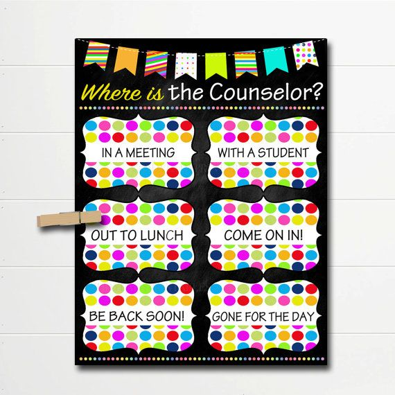 Where is the Counselor Door Sign, Classroom Decor, School Counselor - fresh 7 counseling confidentiality statement