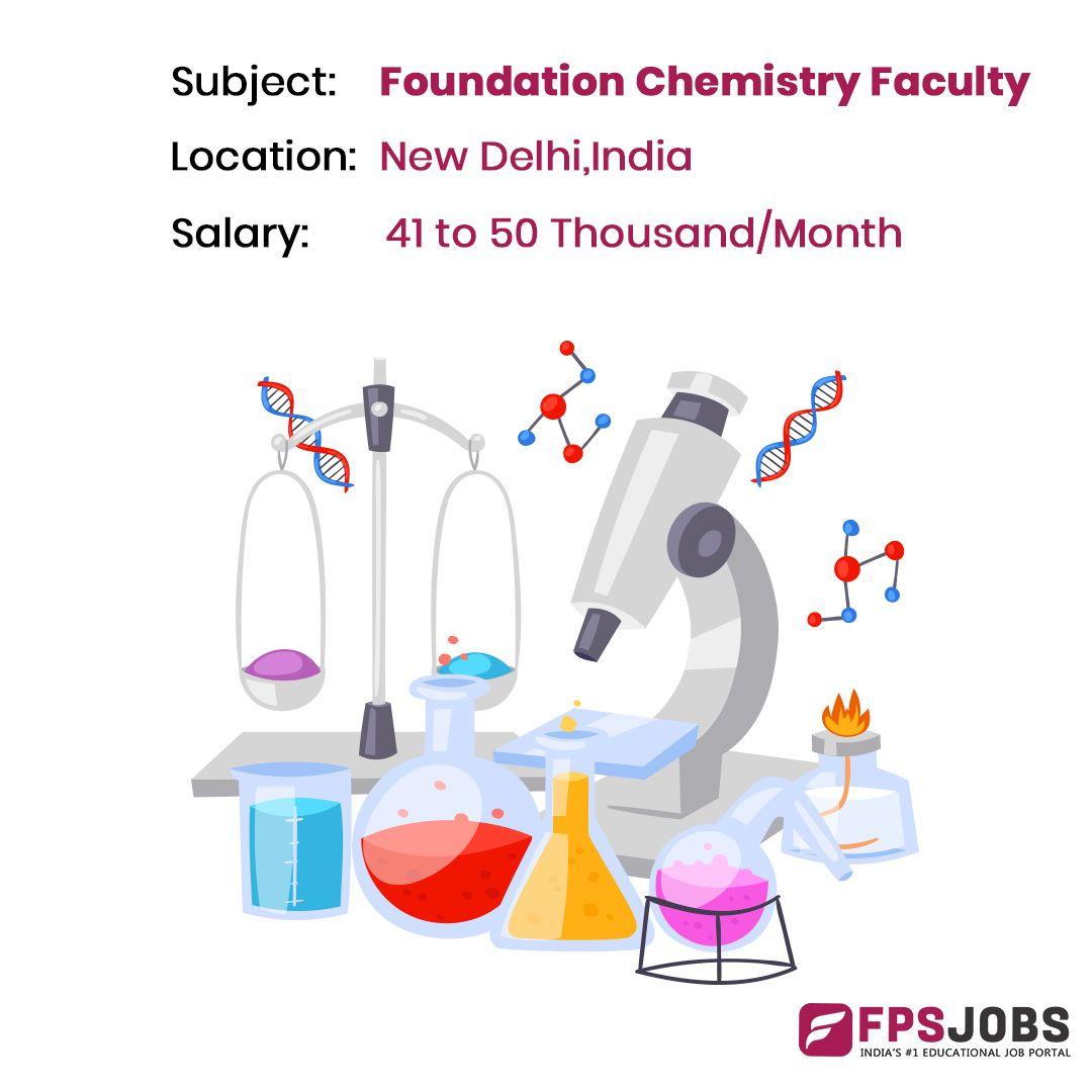 Foundation Chemistry Faculty Jobs Education Jobs Job Portal Job