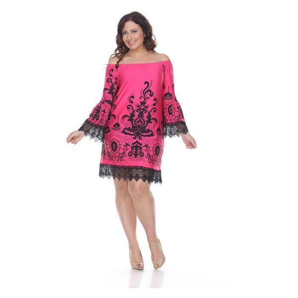 Women s White Mark Women s Plus Size Uniss Dress $27 ❤ liked on