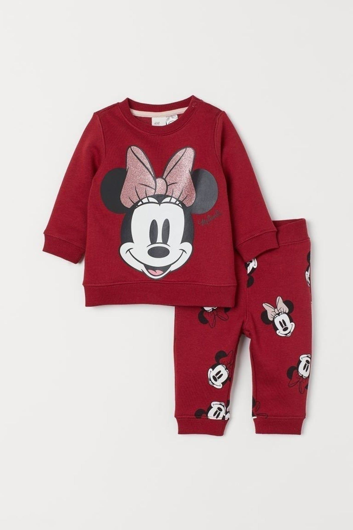 H Amp M Baby Minnie Mouse Sweatpants Set Baby Girl Pajamas Baby Girl Outfits Newborn Disney Baby Clothes [ 1800 x 1200 Pixel ]