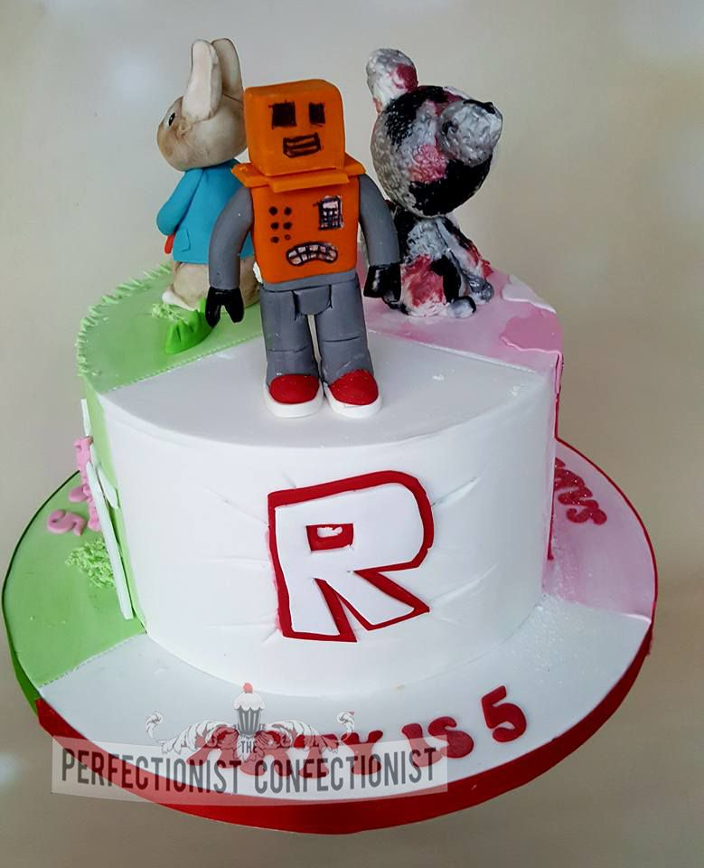 Arty Roblox Birthday Cake Three Cakes In One Roblox Birthday