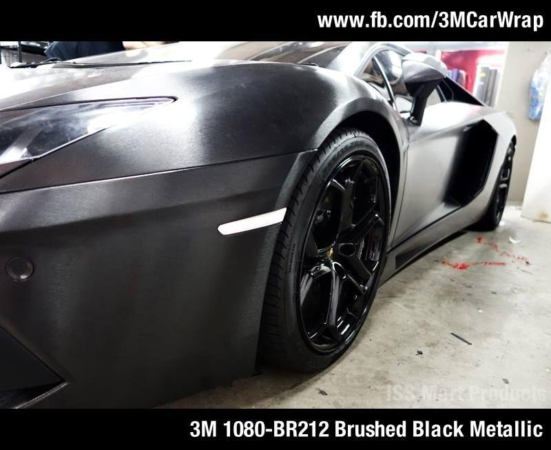 Lamborghini Aventador With 3m 1080 Br212 Brushed Black Metallic In Singapore Issmart Paintisdead