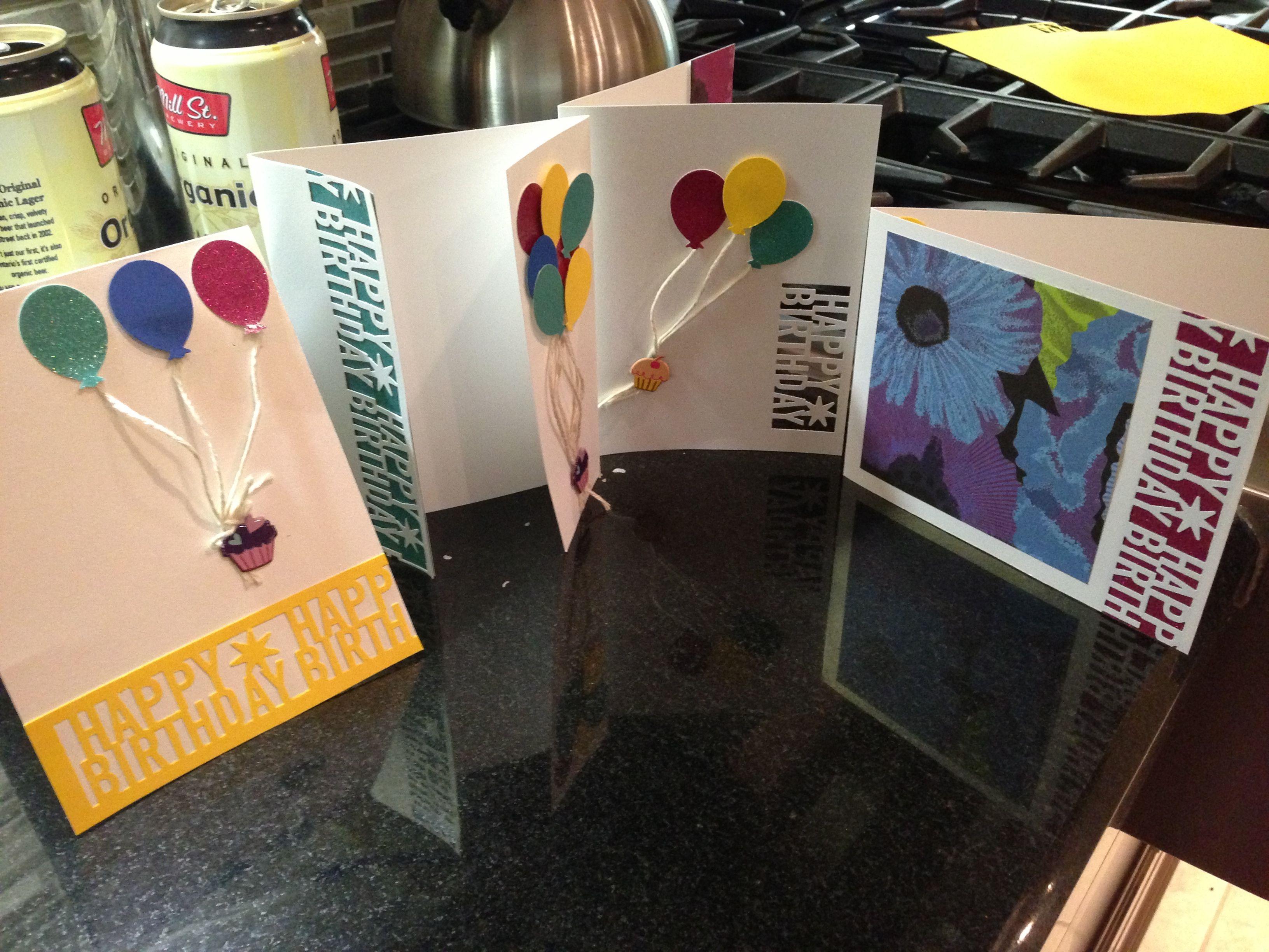 Birthday Cards Used Martha Stewart Happy Birthday Letter Punch