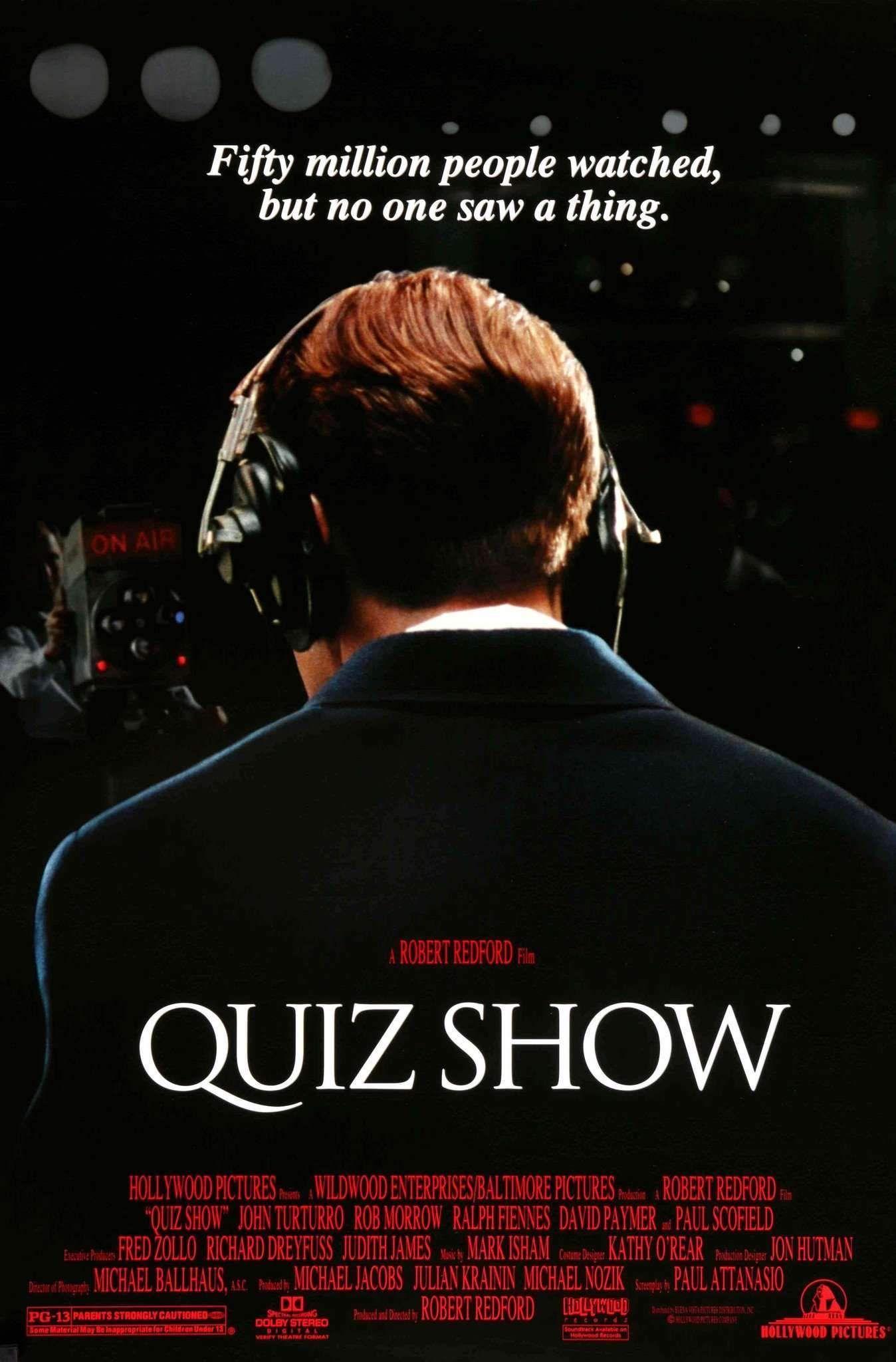 Quiz Show 1994 In 2020 Ralph Fiennes John Turturro Original