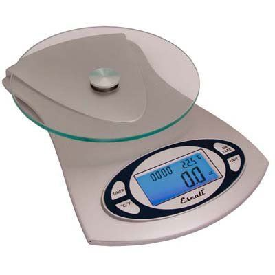 escali vitra digital glass top scale kitchen food scale 115g by escali 39 95 user friendly backlight display tare feature capacity 5000 grams or 11