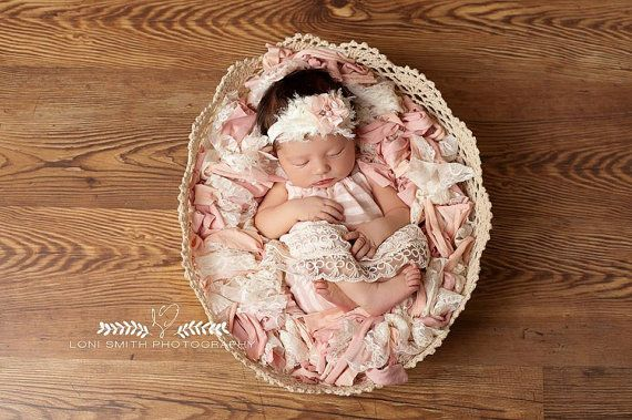 Newborn basket stuffer • pink paradise • newborn photo prop ready to ship